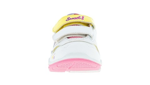 Кроссовки Мой Маленький Пони (My Little Pony) на липучках для девочек, цвет белый. Изображение 2 из 5.