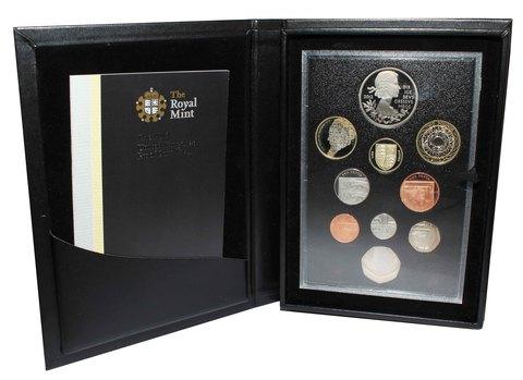 Набор из 10 монет 2012 год. Великобритания (PROOF) в футляре