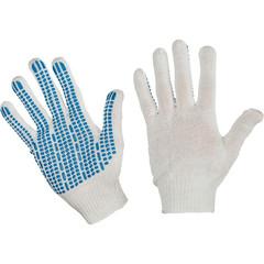 Перчатки рабочие трикотажные с ПВХ Протектор 4 нити 10 класс 42 г (10 пар в упаковке)