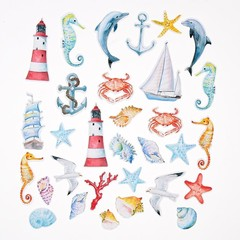 Набор высечек для скрапбукинга Sea party
