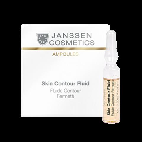 JANSSEN COSMETICS Anti-age лифтинг-сыворотка в ампулах с пептидами, стимулирующими синтез эластина   Skin Contour Fluid 7х2 ml