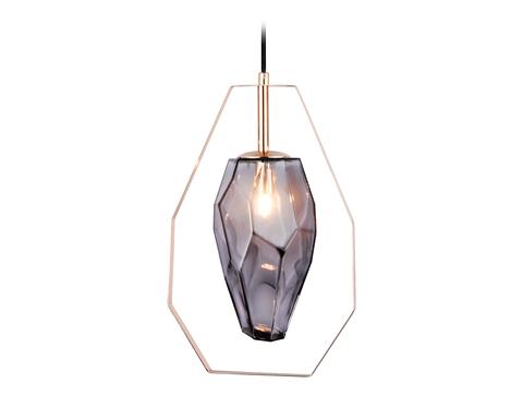 Подвесной светильник со сменной лампой TR3627 GD/SM золото/дымчатый G9 max 40W D200*1100