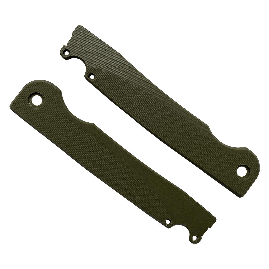 Накладки из G10 олива на ножи Ronin и Kwaigerr