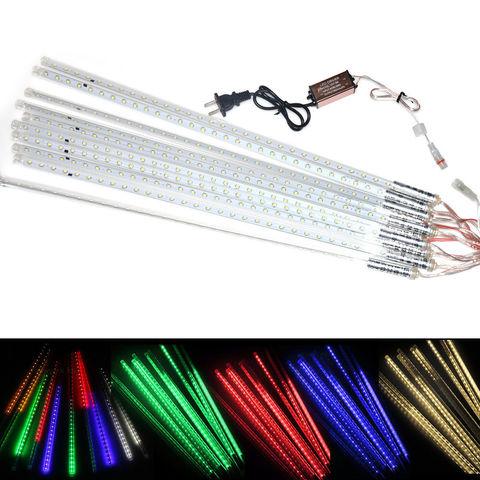 разноцветные гирлянды сосульки тающие LED 30 см