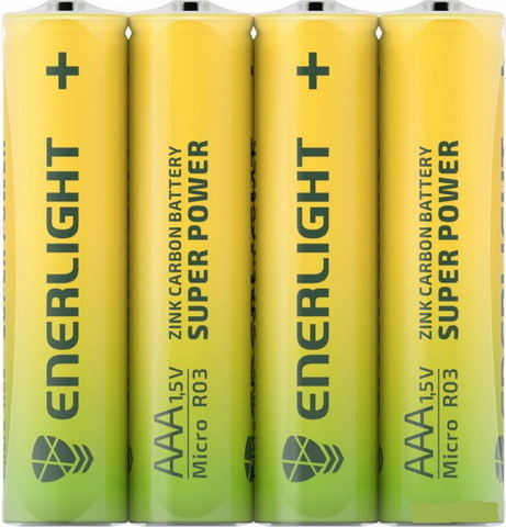 Батарейки Enerlight Super Power R03, AAA (4/48)