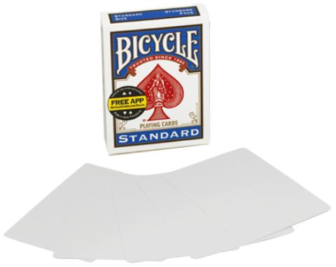 Карты поштучно - Bicycle double blank (пустое лицо и рубашка)