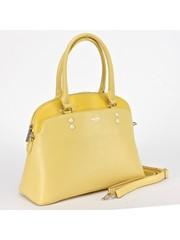 Классическая сумка лимонного цвета с двумя внешними карманами