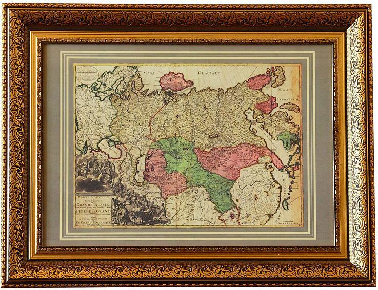 «Новая карта всей империи Великой России»составленная пленными шведскими офицерами в 1728 г.,