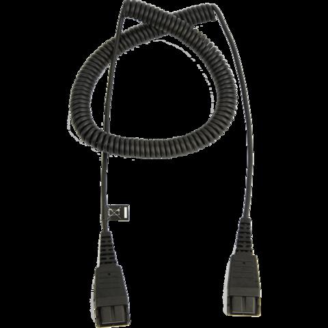 Шнур QD на QD, витой, 50 см - 2 м