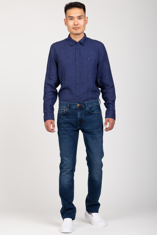 Рубашка PIGMENT DYED LINEN SHIRT Tommy Hilfiger