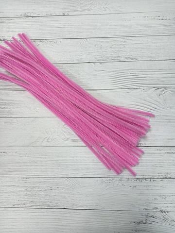 Проволока синельная, цвет розовый, размер 30см, 30 шт