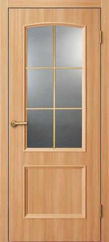 Дверь ДО 121 (светлый ильм, остекленная лакированная), фабрика Краснодеревщик