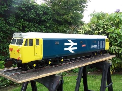 Garden Rail Тепловоз Class 50 на колею 12,7 см, электрический