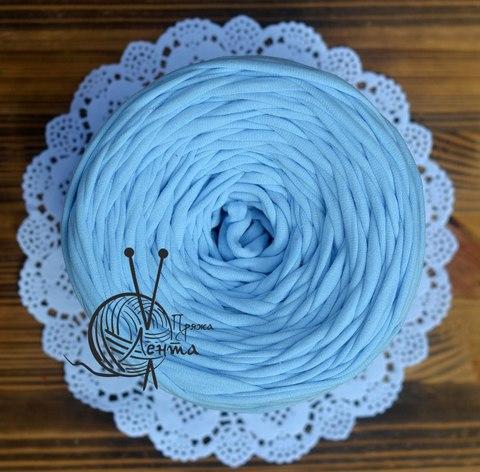 Пряжа Лента Нежно-голубой