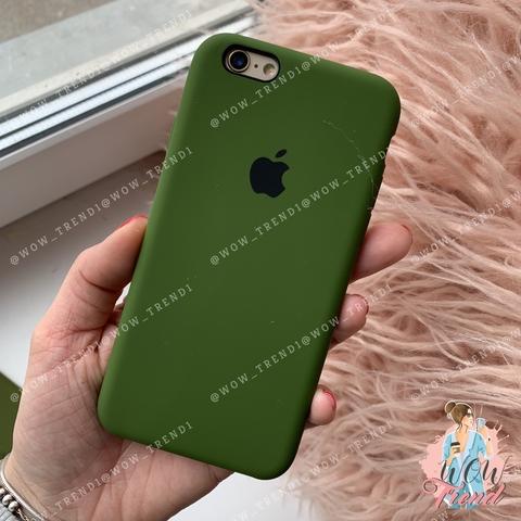 Чехол iPhone 6+/6s+ Silicone Case /olive/ оливка 1:1