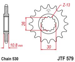 Звезда передняя Yamaha FZ YZF XJR JTF 579.17 RB
