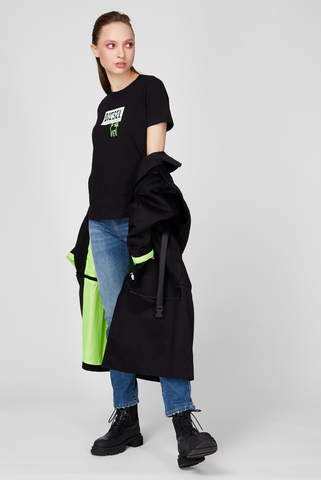 Женская черная футболка T-SILY-E52 Diesel
