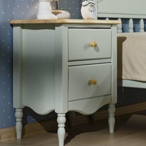 Прикроватная тумбочка для спальни Айно 2 (голубая пастель/лак)