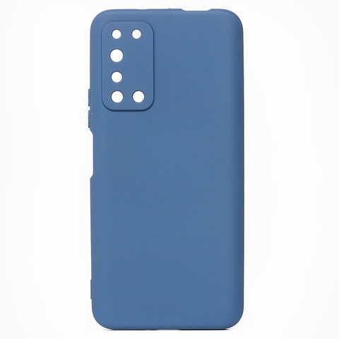 Чехол для Huawei Honor X10 Софт тач мягкий эффект | микрофибра синий