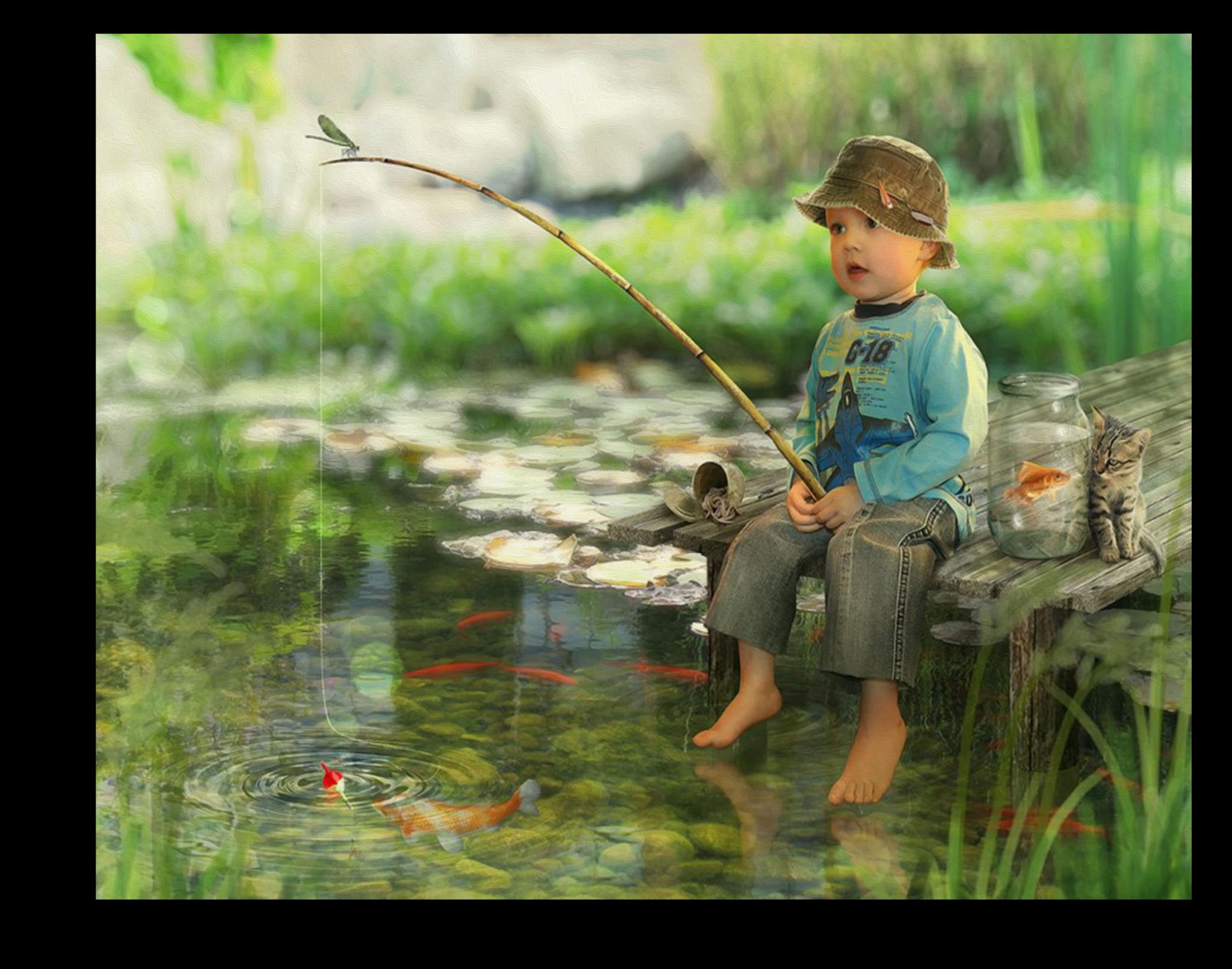 """Постеры Постер """"Маленький рыбак"""" п41.png"""