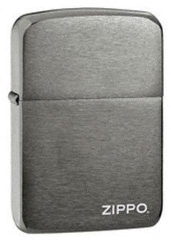 Зажигалка Zippo №24485 (1941Replica) с покрытием Black Matte, латунь/сталь, чёрная, матовая, 36x12x5123