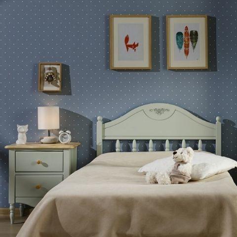 Прикроватная тумба для спальни Айно 2 (голубая пастель/лак)