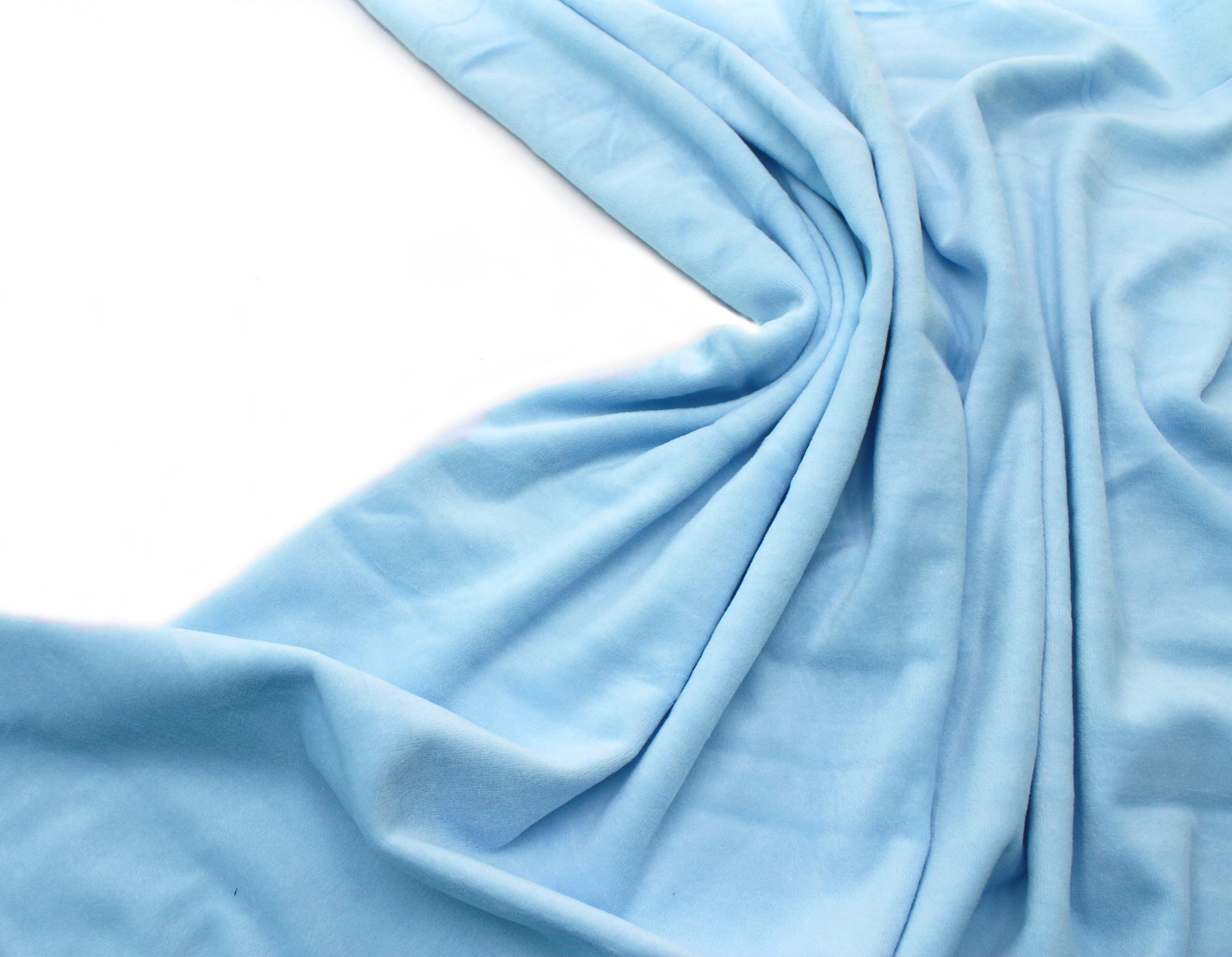 Велюр нежно-голубой