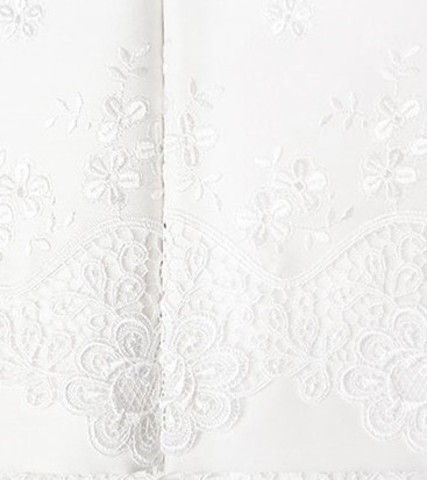 Постельное белье Clarisa белый с кружевом deluxe TIVOLYO HOME Турция