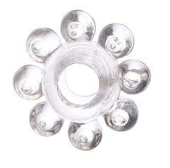 Прозрачное гелевое эрекционное кольцо-цветок