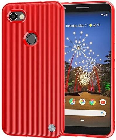 Чехол на Google Pixel 3a цвет Red (красный), серия Bevel от Caseport
