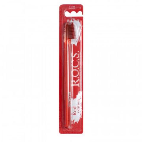 Зубная щетка ROCS Red Edition средняя 03-04-023