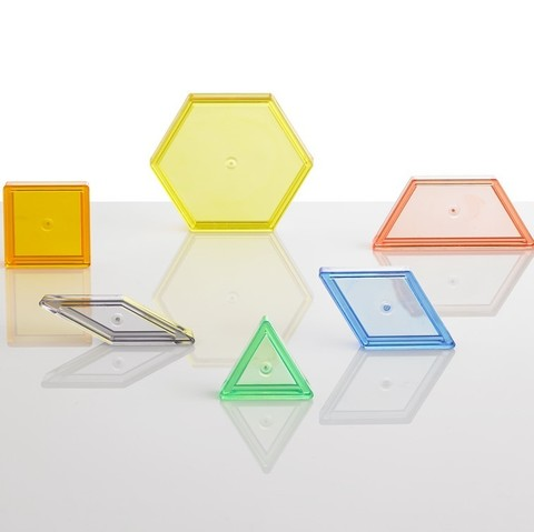 Счетный материал Прозрачные геометрические фигуры контейнер Edx Education 22108J