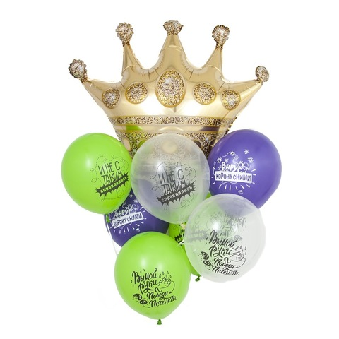 Воздушные шарики с гелием антивирусные (про коронавирус), 30 см