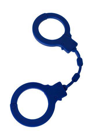 Синие силиконовые наручники  Штучки-дрючки