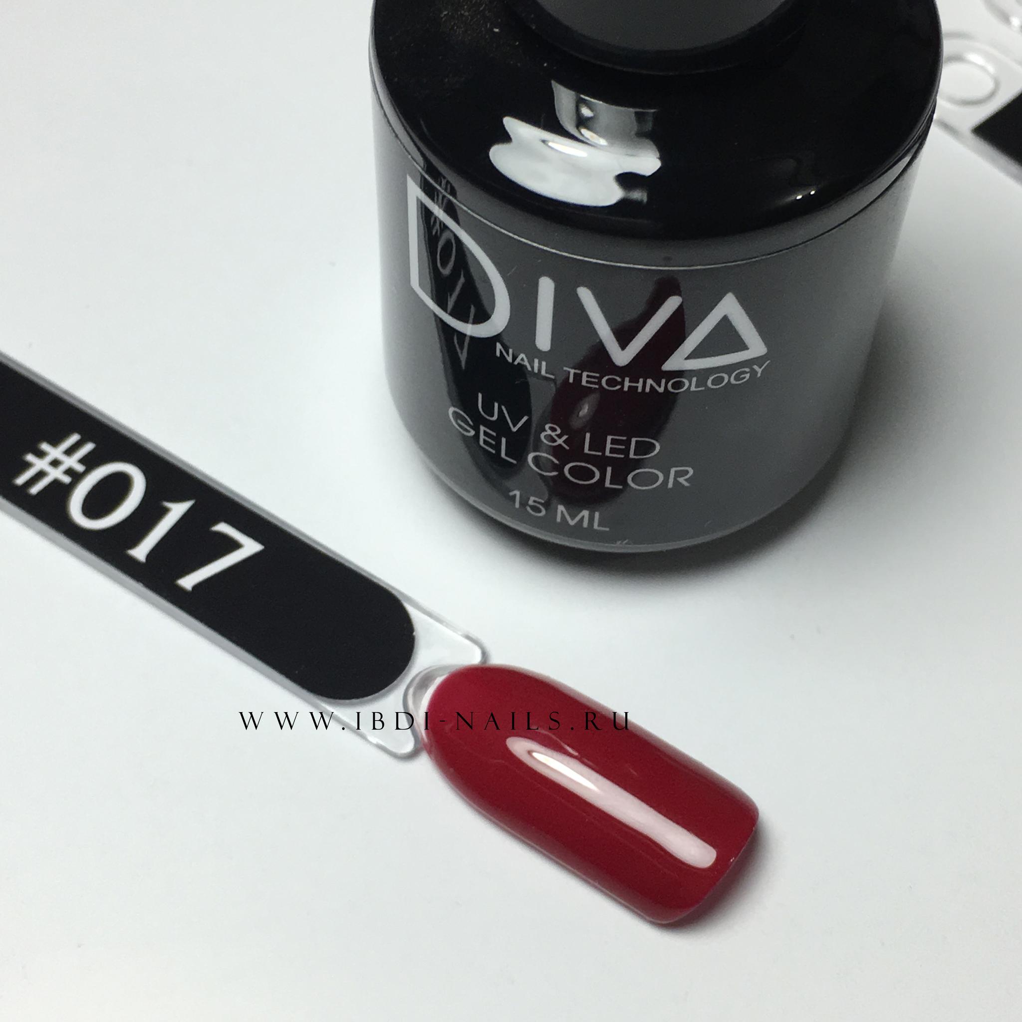 Гель-лак DIVA 017 15мл