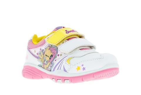 Кроссовки Мой Маленький Пони (My Little Pony) на липучках для девочек, цвет белый. Изображение 5 из 5.