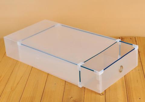 52*30*11 см пластиковая прозрачная коробка для высоких женских сапог с выдвижным ящиком