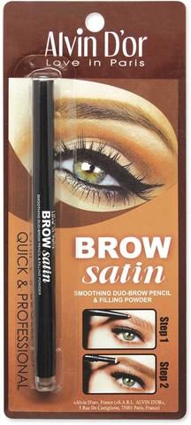 Alvin D`or P-5 Дуэт для бровей карандаш+пудра Brow Satin (тон 01 medium brown)