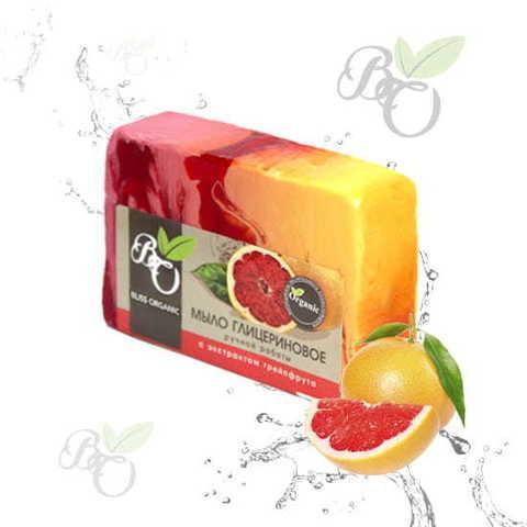 Глицериновое мыло ручной работы «Грейпфрут», Bliss organic 100 гр