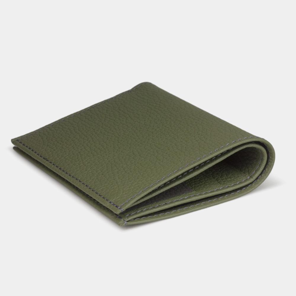 Мини-кошелек Pochette Bicolor из натуральной кожи теленка, зеленый цвета