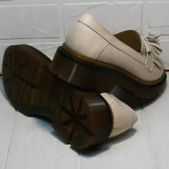 Бежевые туфли на устойчивом каблуке Markos S-6 Light Beige.