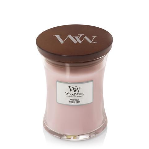 Аромасвеча WoodWick средняя Розовое дерево 275г