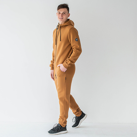 Warm jumpsuit for men - Nut