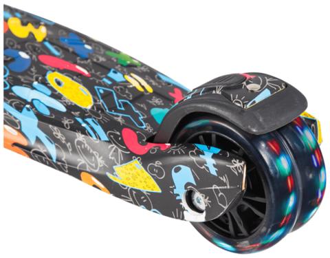 Трехколесный самокат Tech Team Tiger print black