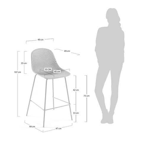 Барный стул Quinby белый