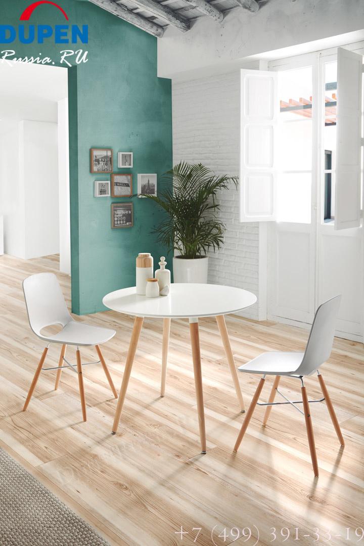 Дизайнерские стулья WASOSKY PC-450 белые и Круглый стол DUPEN RT-902 Белый