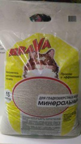 БРАВА (BRAVA) наполнитель Впитывающий (для гладкош. кошек) 15 л