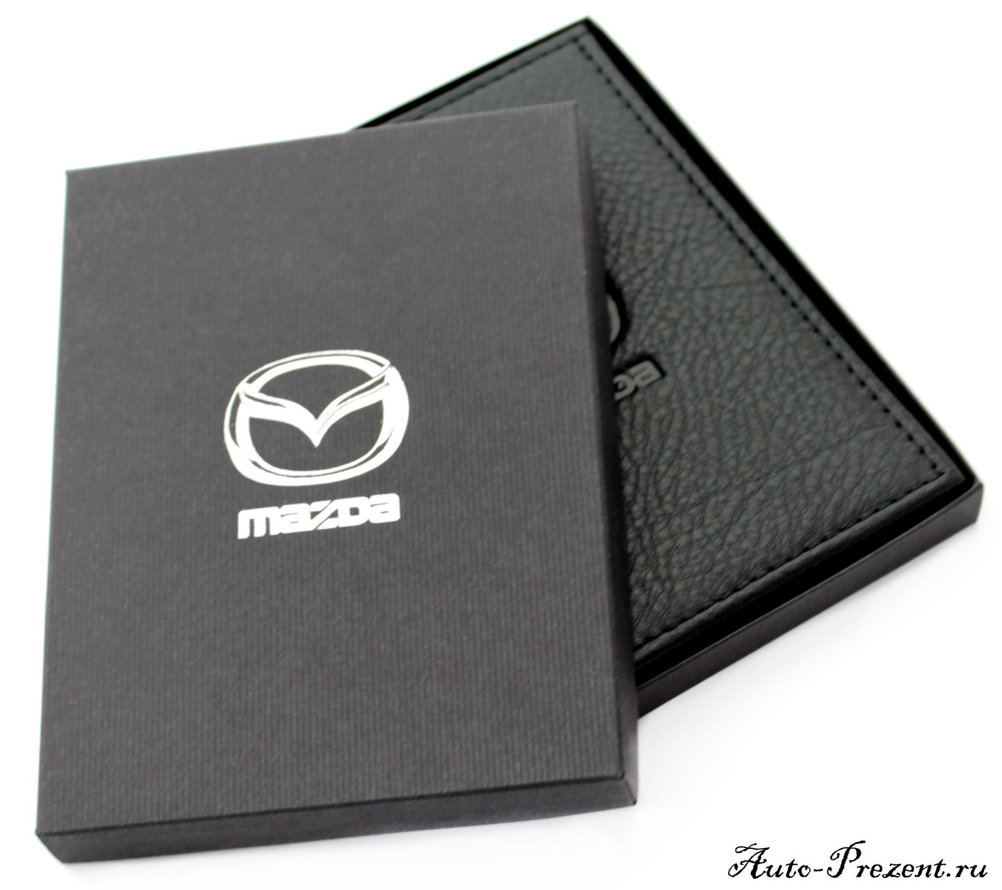 Портмоне для автодокументов из натуральной кожи с логотипом MAZDA