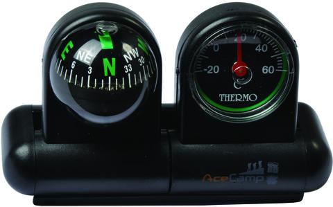 Компас автомобильный с термометром и гироскопом AceCamp Car Compass with Thermometer