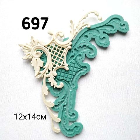 0697 Молд силиконовый. Угловой орнамент правый.